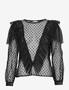 Maxima Top - langærmede bluser - black