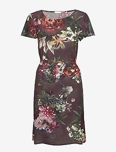 May Dress - midi dresses - dark floral print