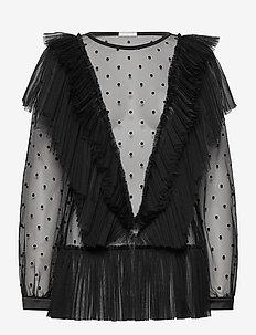 Natasha Top - blouses med lange mouwen - black