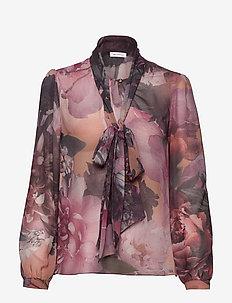 Peony Blouse - langærmede bluser - pink floral