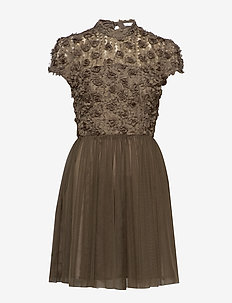 Sandy Dress - lyhyet mekot - olive