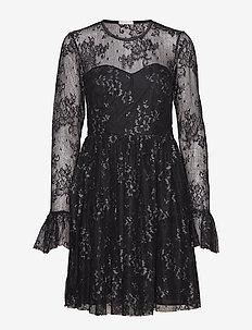 Tilly Dress - BLACK/SILVER