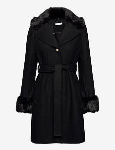 Zoey Coat - ullkåper - black