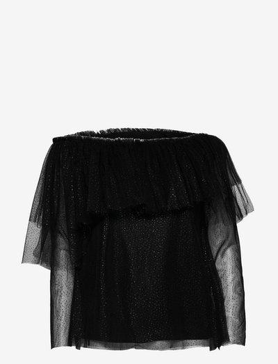 Celine Top - langermede bluser - black