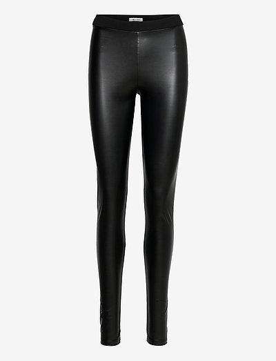 Dee Leggings - læderbukser - black