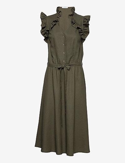 Erin dress - sommerkjoler - dark olive