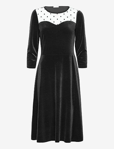 Hermine Dress - midi kjoler - black