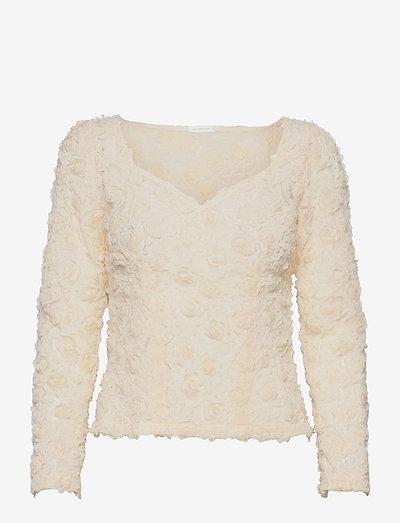 Ivy Top - langærmede bluser - dark ivory