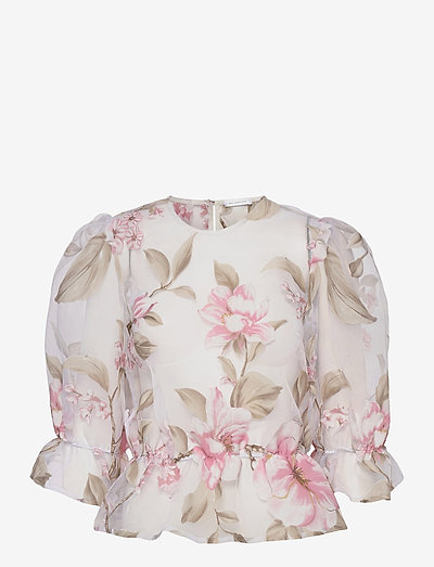 Orlando top - kortærmede bluser - white/pink