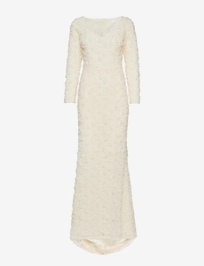 Selena Dress - aftenkjoler - dark ivory
