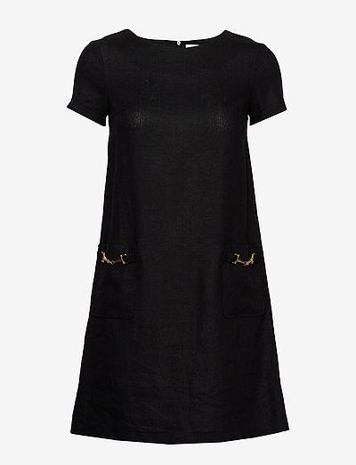 Teardrop dress - midi kjoler - black