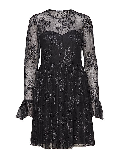 Tilly Dress - BLACK/SILVER