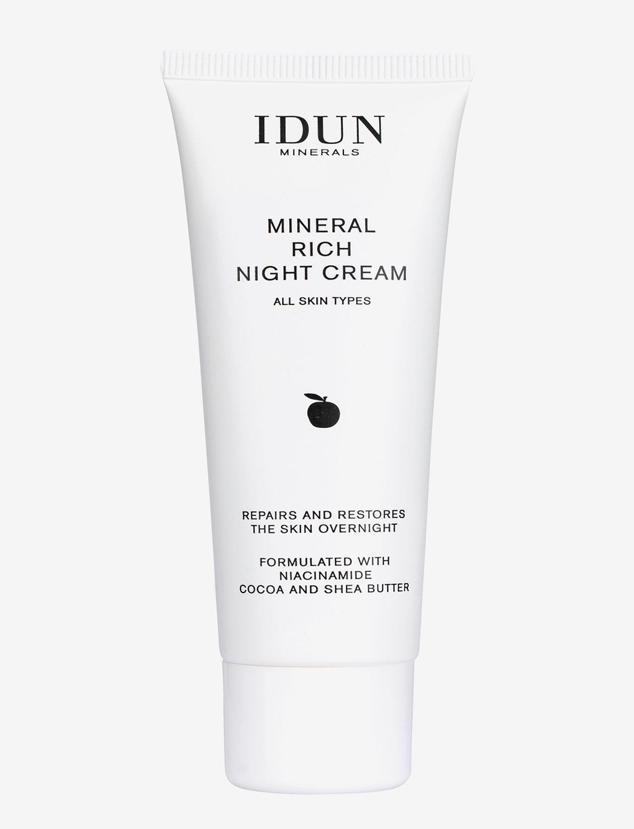 IDUN Minerals - Mineral Rich Night Cream - kosteusvoiteet - clear - 0