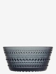 Iittala - Kastehelmi bowl 23cl - osta hinnan perusteella - dark grey - 0