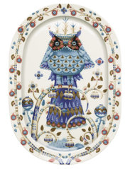 Taika serving plate 41cm oval - WHITE
