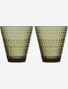 Kastehelmi tumbler 30cl 2pcs - vannglass - moss green