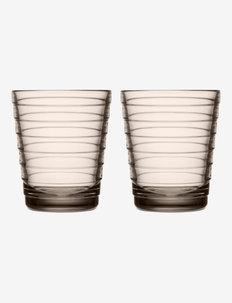 Aino Aalto glass 22cl 2-pk - vannglass - linen