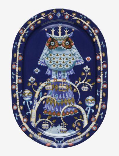 Taika serving plate 41cm oval - serveringsfat - blue