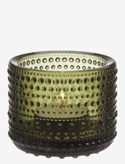 Kastehelmi  teal.candleh. 64mm - kynttilälyhdyt - moss green