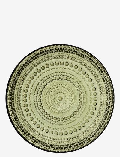 Kastehelmi plate 170mm - ruokalautaset - moss green