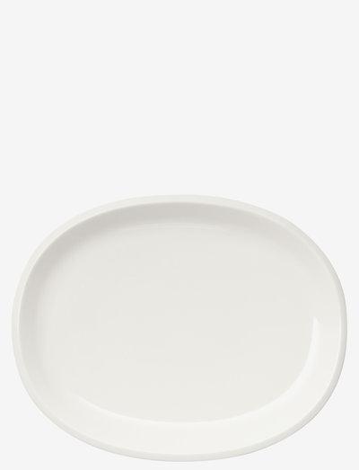 Raami serveringsfat oval 35cm - serveringsfat - white