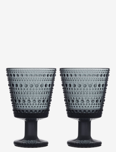 Kastehelmi univ. glass 26cl 2pcs - juomalasit - dark grey
