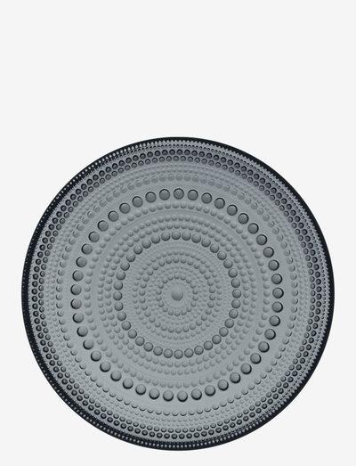 Kastehelmi plate 17 cm - ruokalautaset - dark grey