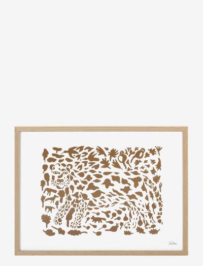 OTC art poster 50x70cm Cheetah - dyr - brown