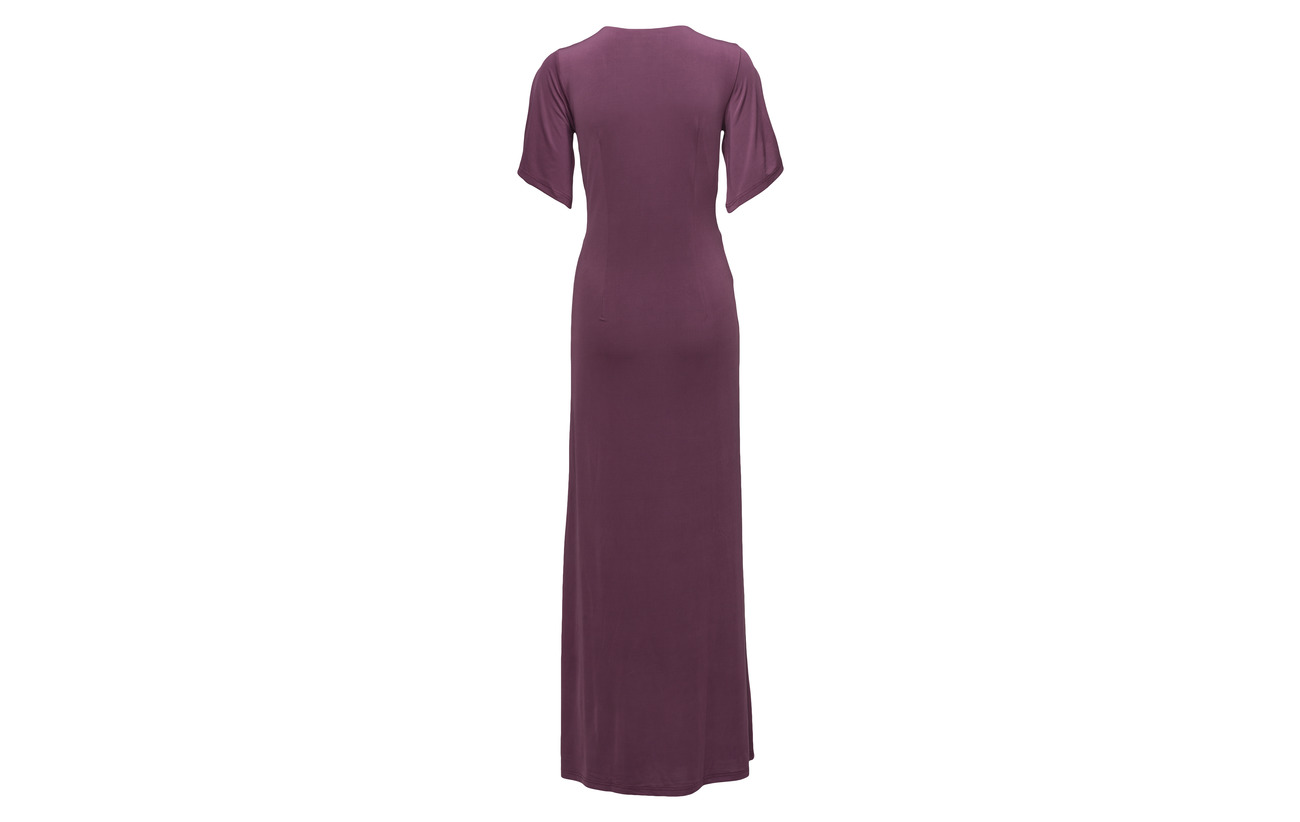 Polyester 95 Elastane Jacobsen Ilse Eggplant Long 5 Dress XxI0n0d8