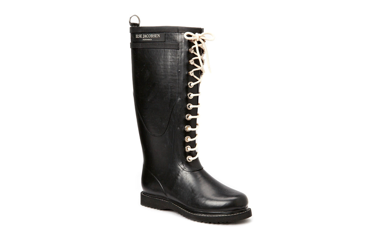 Ilse Jacobsen LONG RUBBERBOOT - BLACK