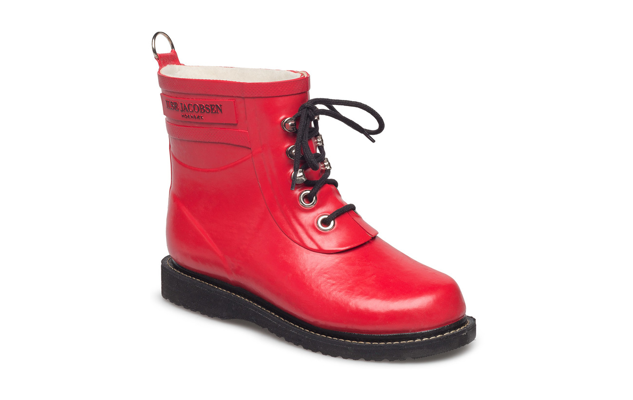 Ilse Jacobsen SHORT RUBBERBOOT - DEEP RED