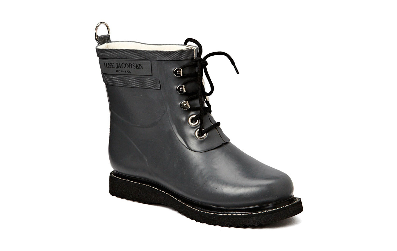 Ilse Jacobsen SHORT RUBBERBOOT - GREY
