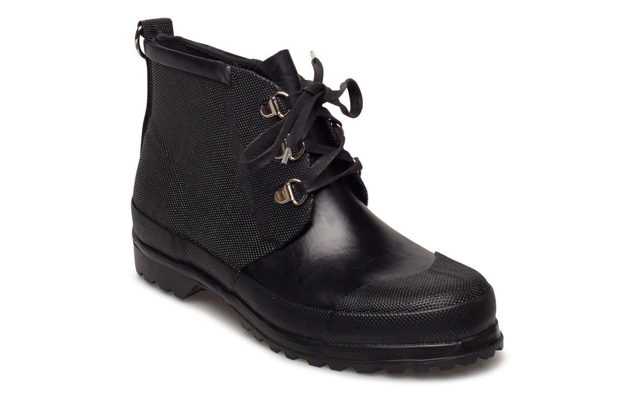 rubber boots lace up