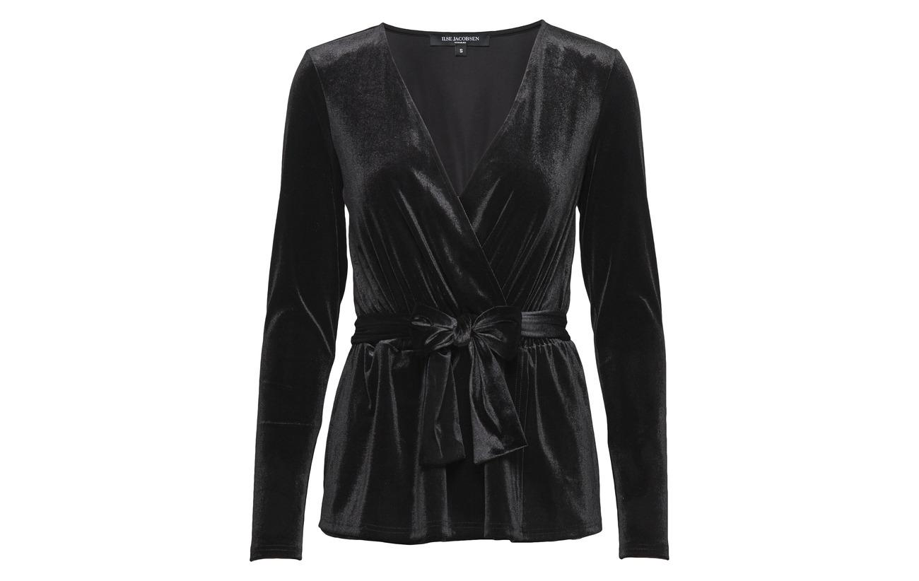 95 Ilse Elastane Black 5 Blouse Jacobsen Polyester TTwgqtf