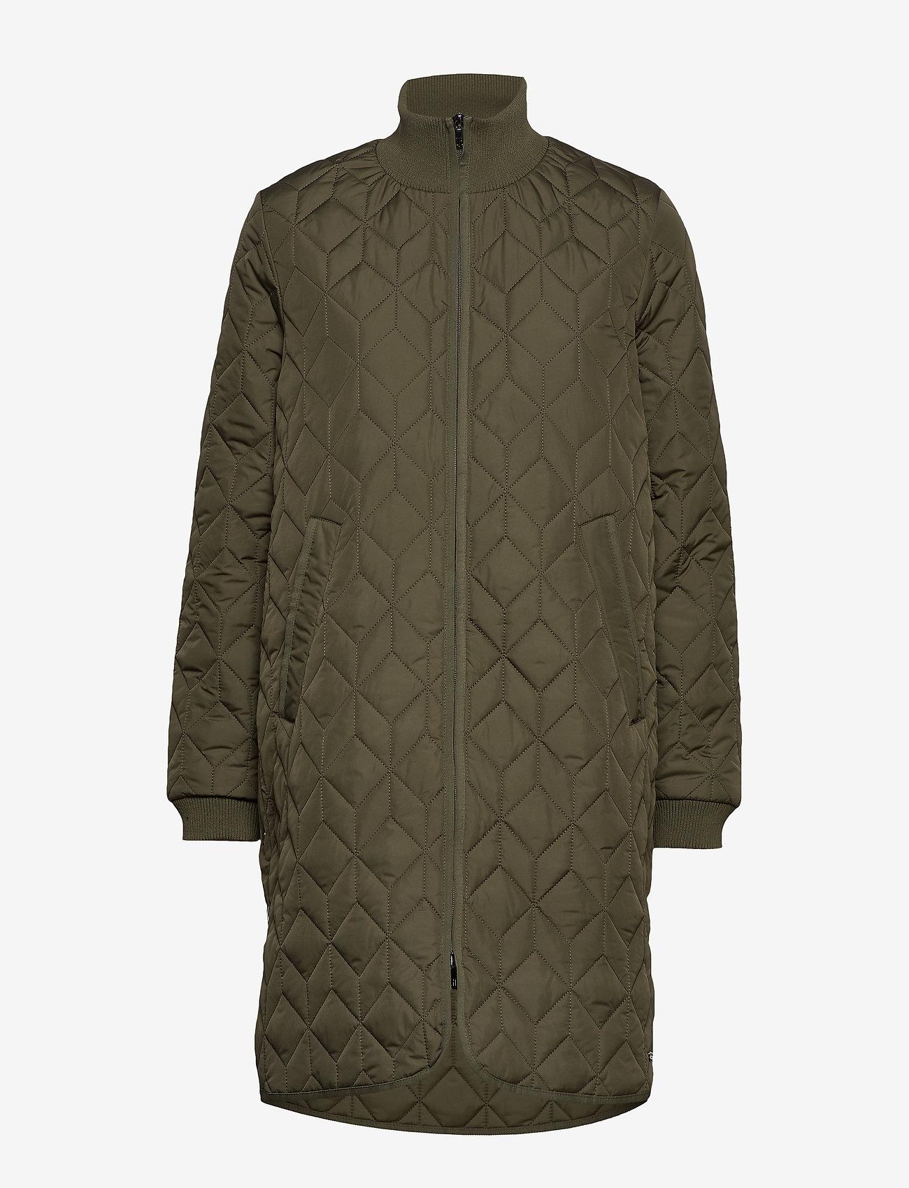 Ilse Jacobsen - Padded Quilt Coat - dynefrakke - army - 1