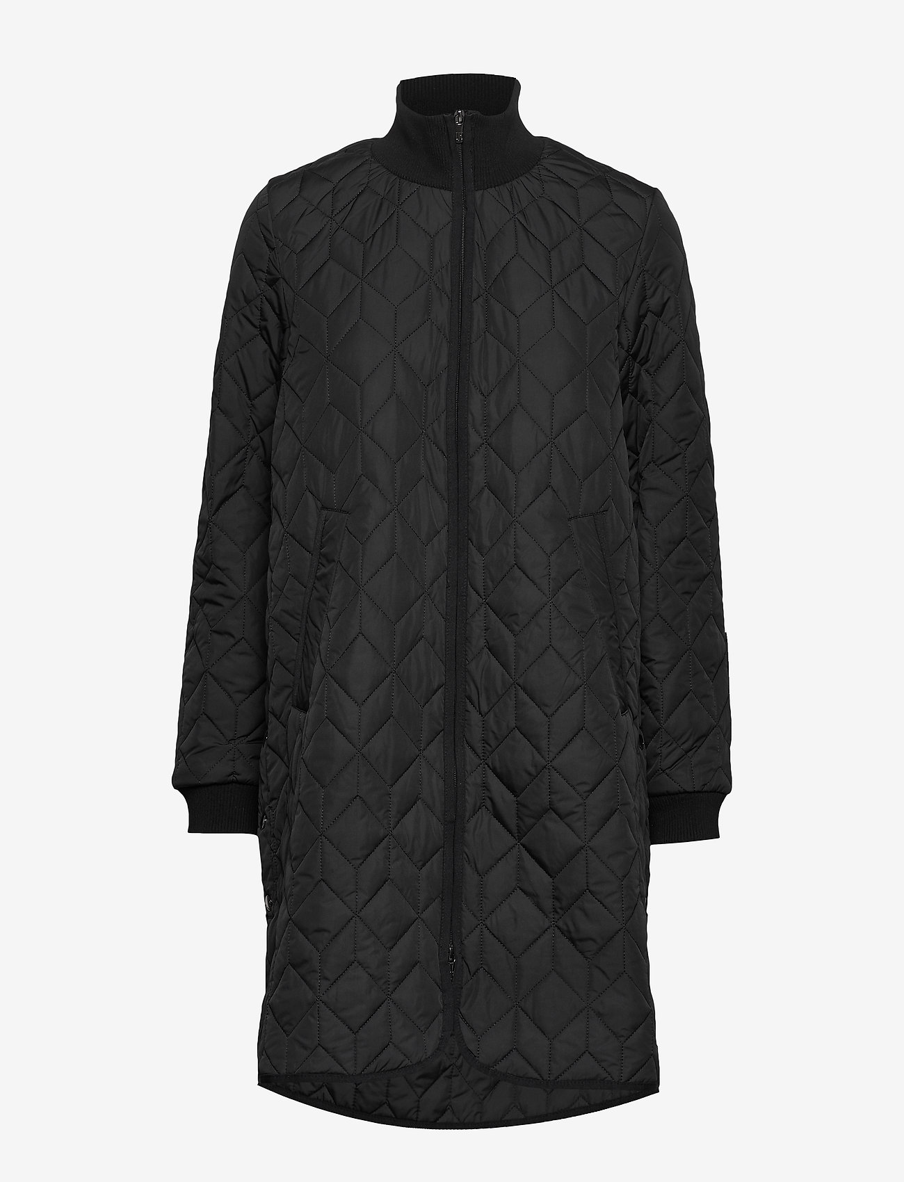 Ilse Jacobsen - Padded Quilt Coat - dynefrakke - black - 1