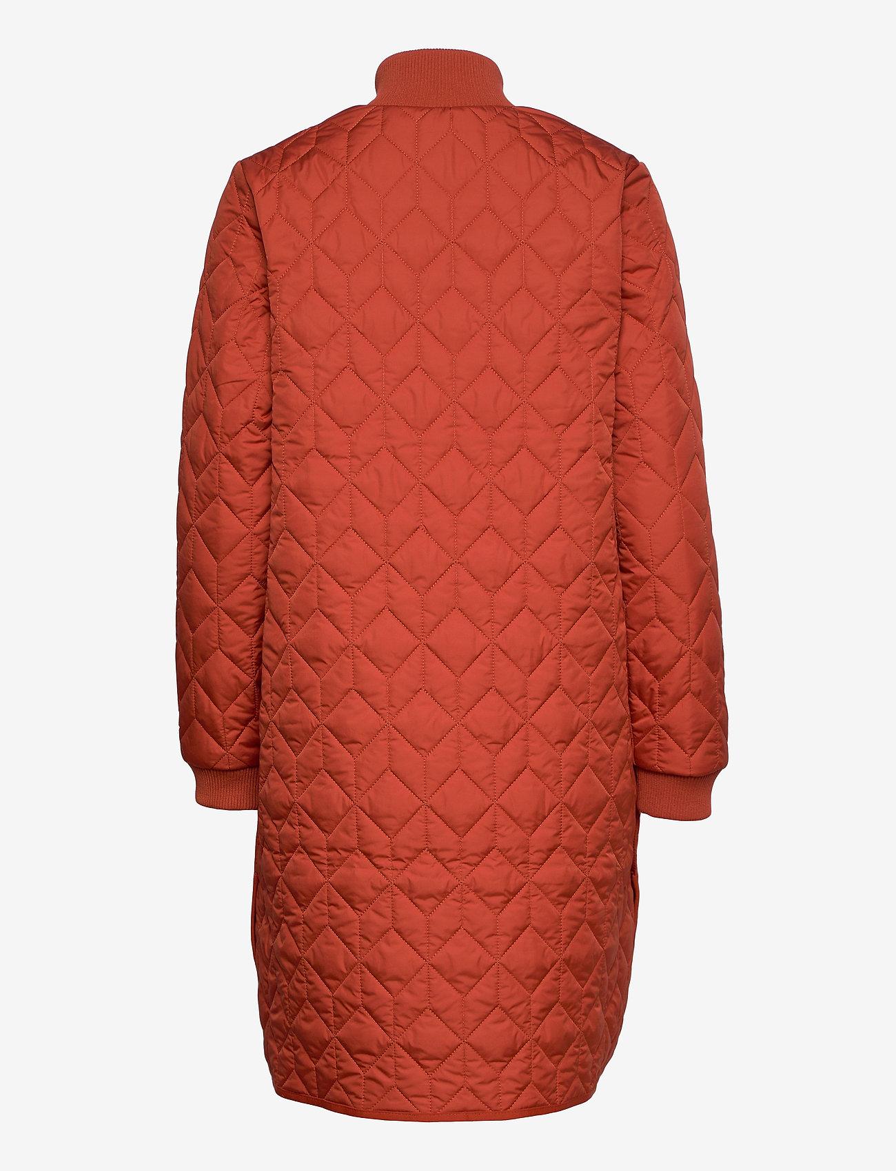 Ilse Jacobsen - Padded Quilt Coat - dynefrakke - brick red - 1
