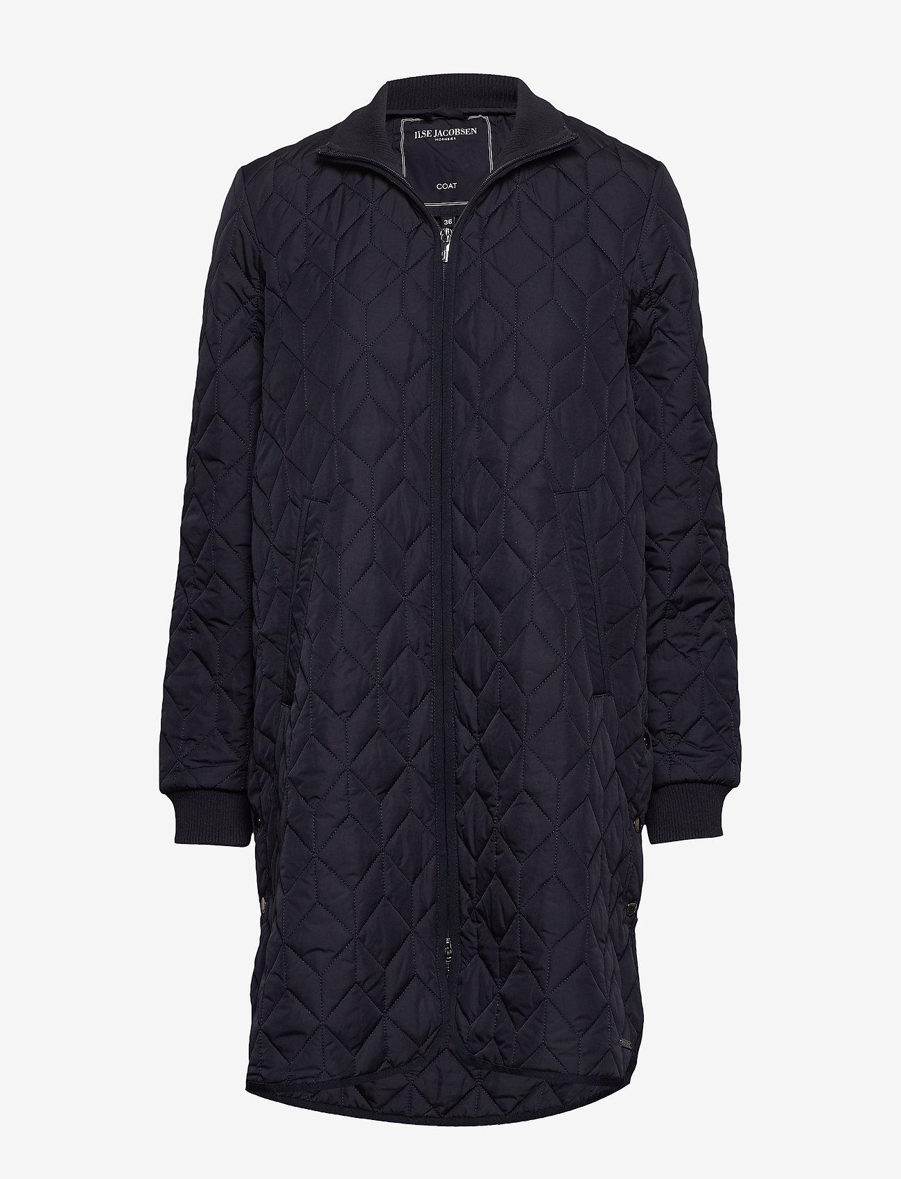 Ilse Jacobsen - Padded Quilt Coat - dynefrakke - dark indigo - 0