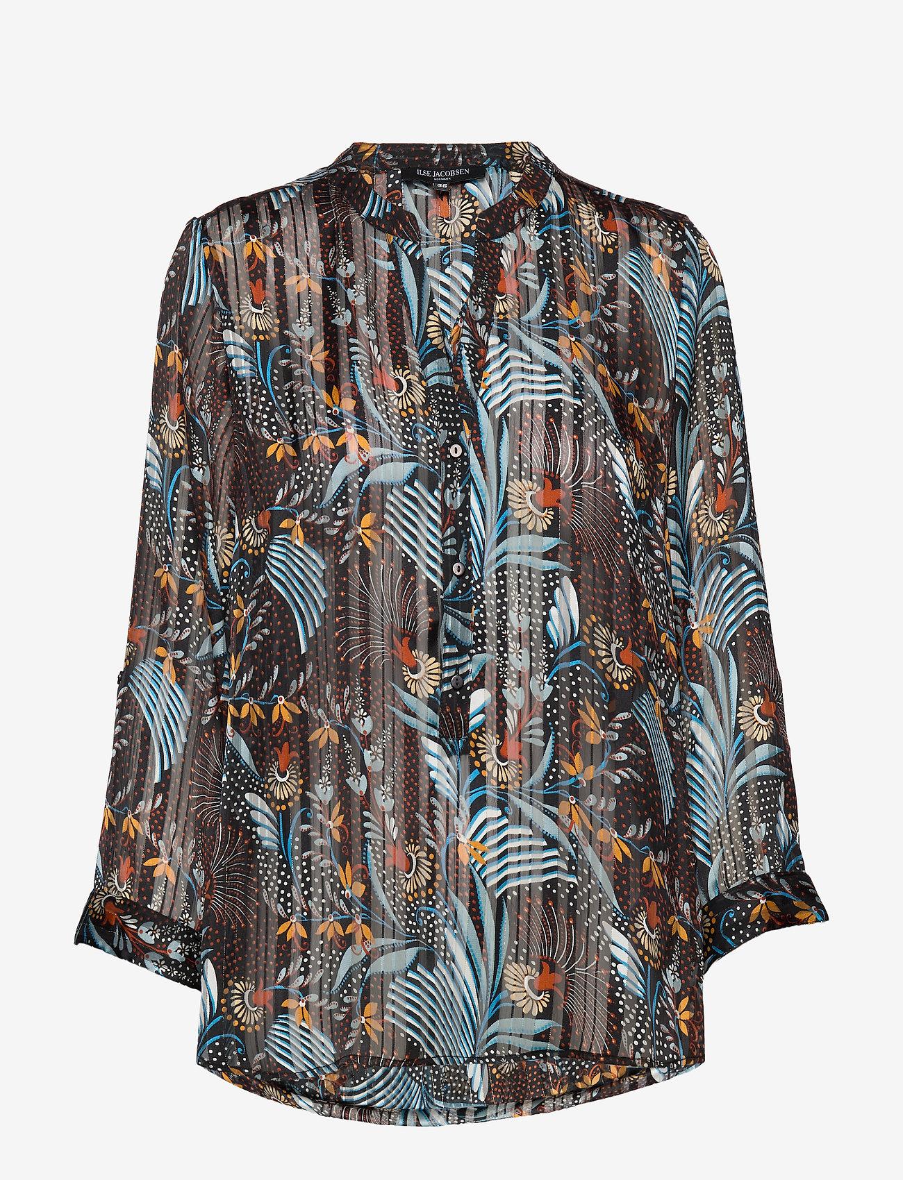 Ilse Jacobsen - SHIRT - blouses à manches longues - black - 0