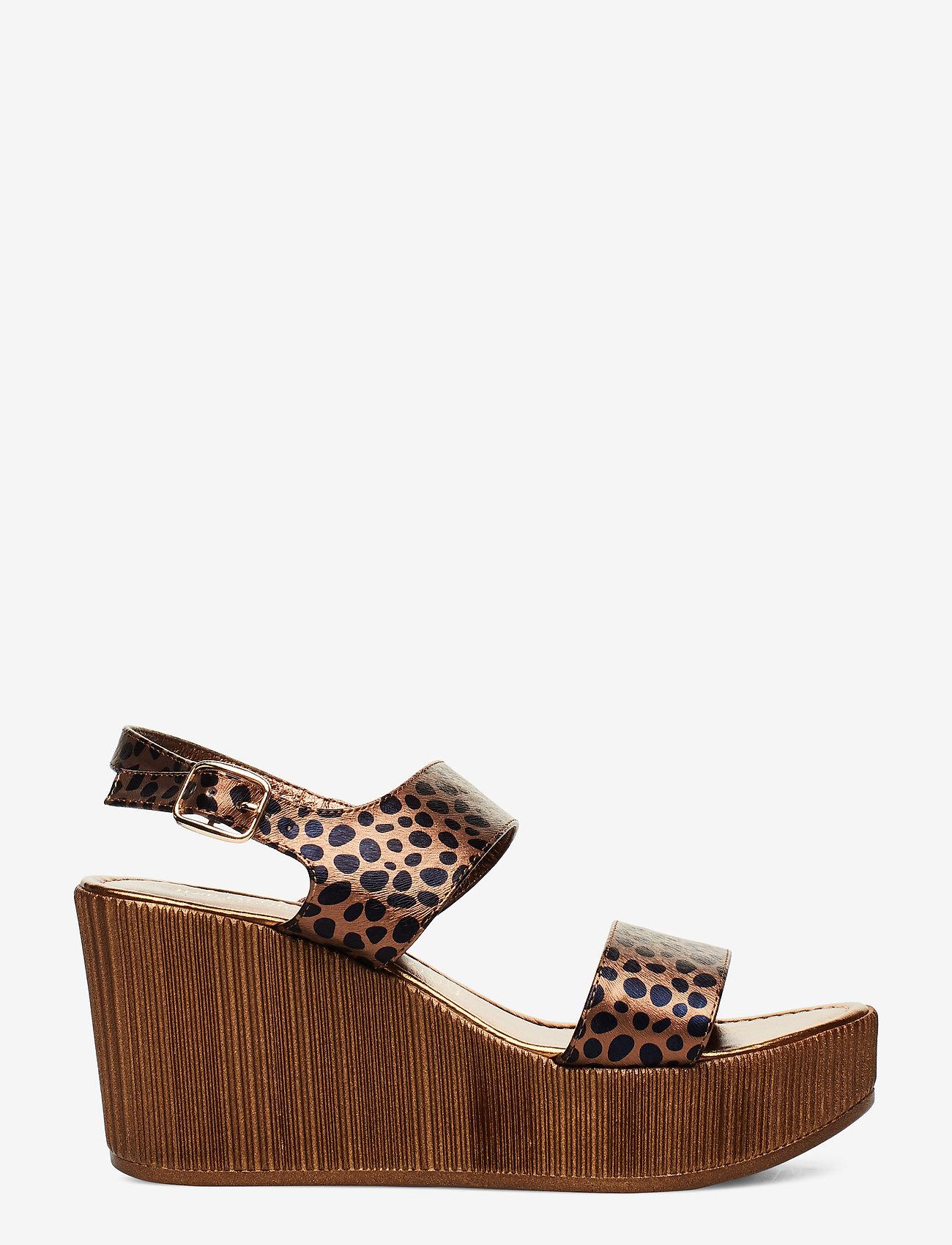 Ilse Jacobsen - WEDGES - sandales à talons - light chestnut - 1