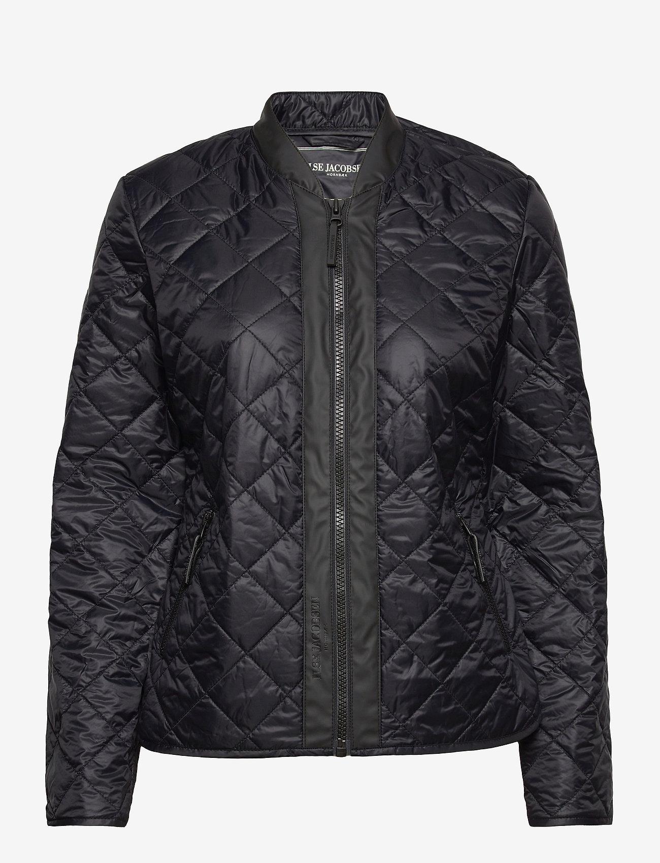 Ilse Jacobsen - Light Quilt Jacket - forede jakker - black - 0