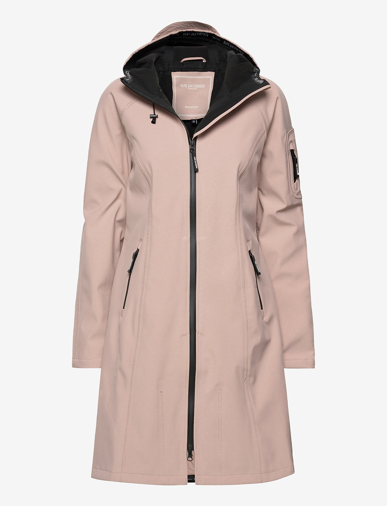 Ilse Jacobsen - LONG RAINCOAT - regnjakker - adobe rose - 0