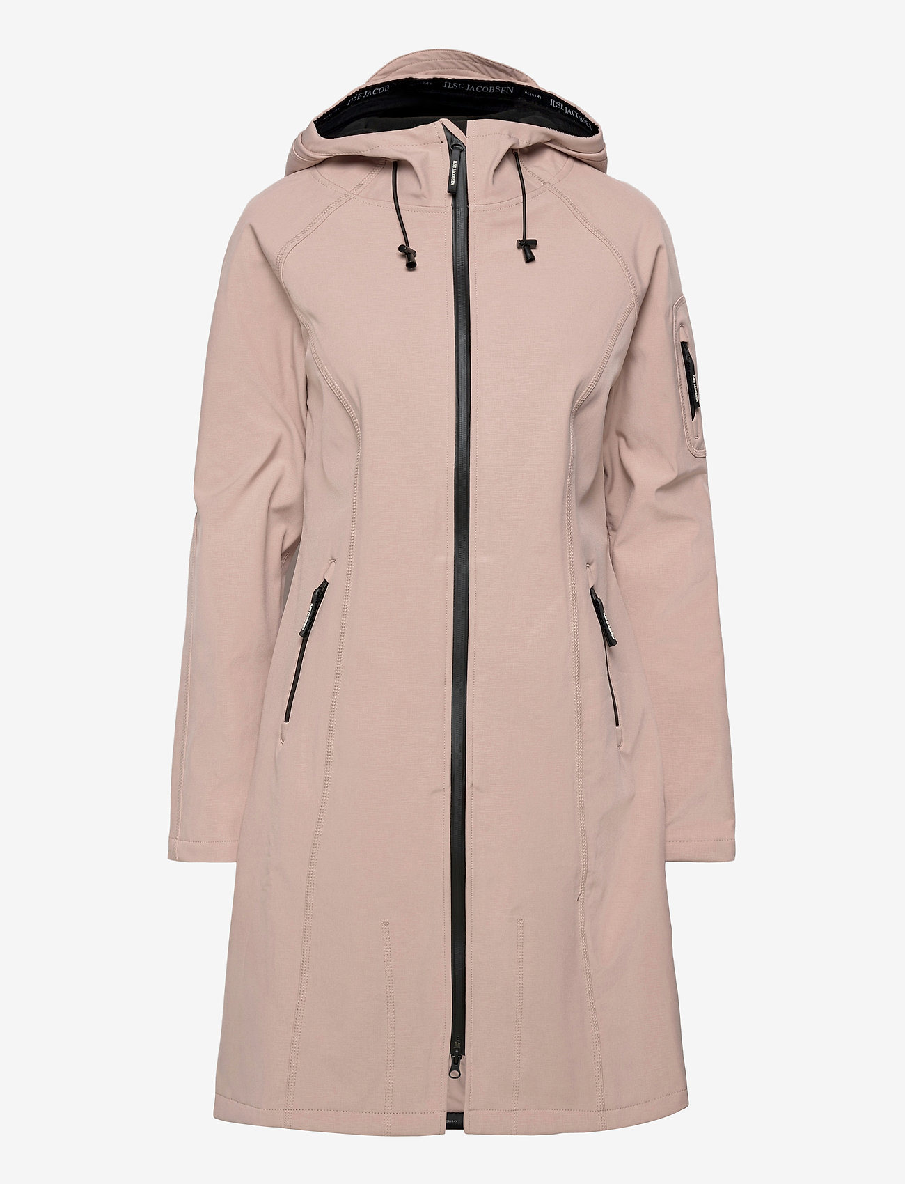 Ilse Jacobsen - LONG RAINCOAT - regntøj - adobe rose - 1
