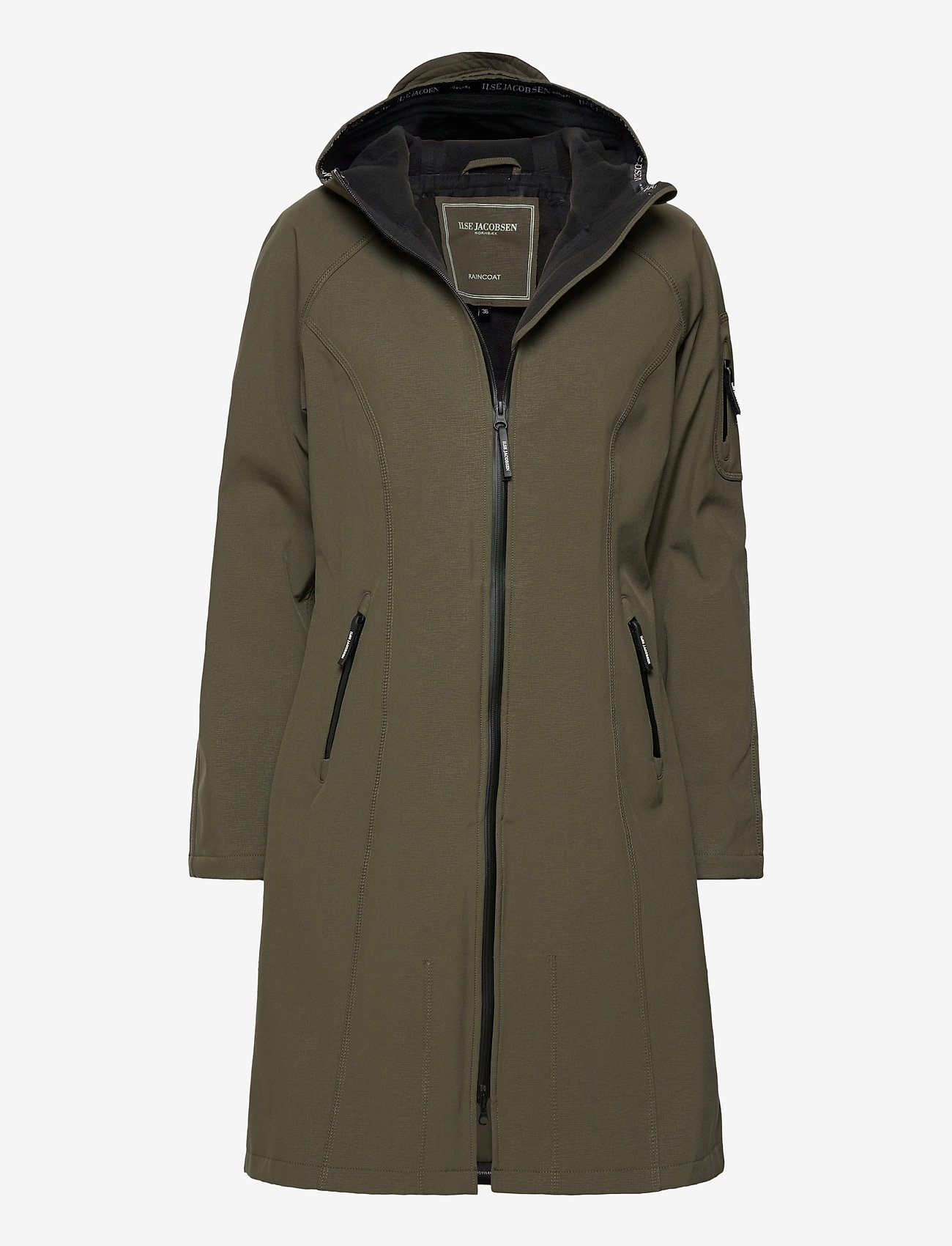 Ilse Jacobsen - LONG RAINCOAT - regntøj - army - 0