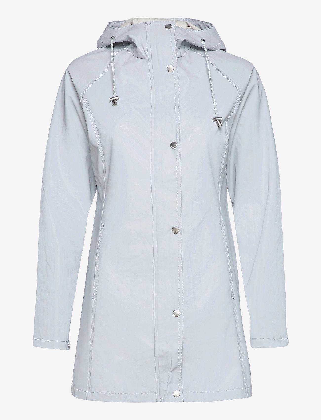 Ilse Jacobsen - Raincoat - regnjakker - white blue - 0