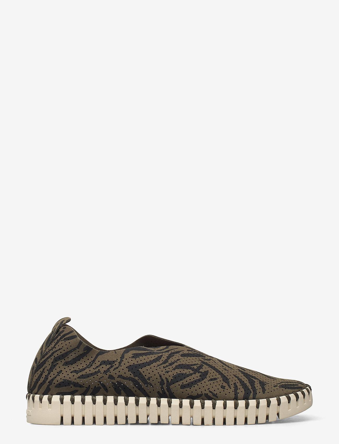 Ilse Jacobsen - FLATS - baskets slip-on - deep olive - 1