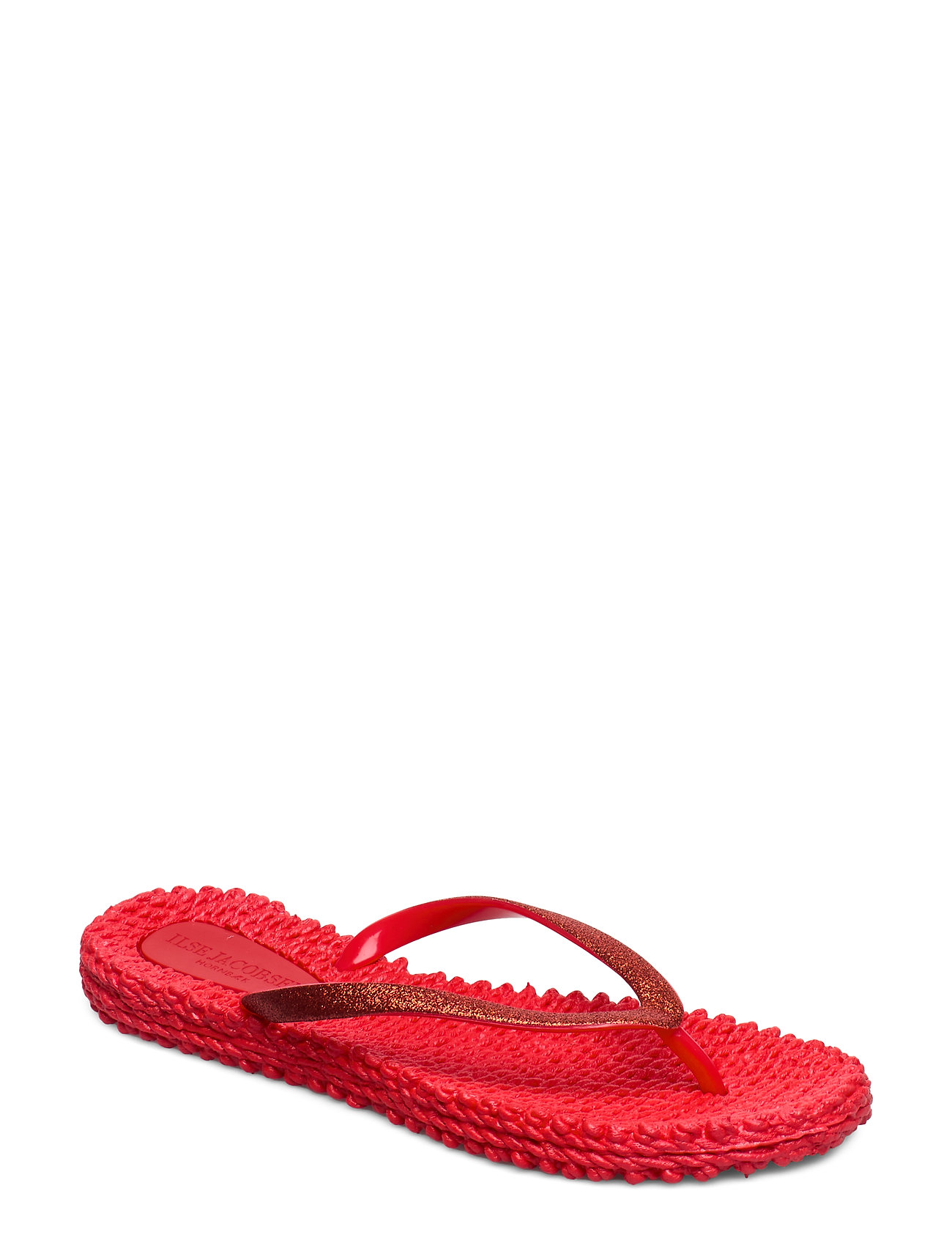 Ilse Jacobsen FLIPFLOP WITH GLITTER - DEEP RED