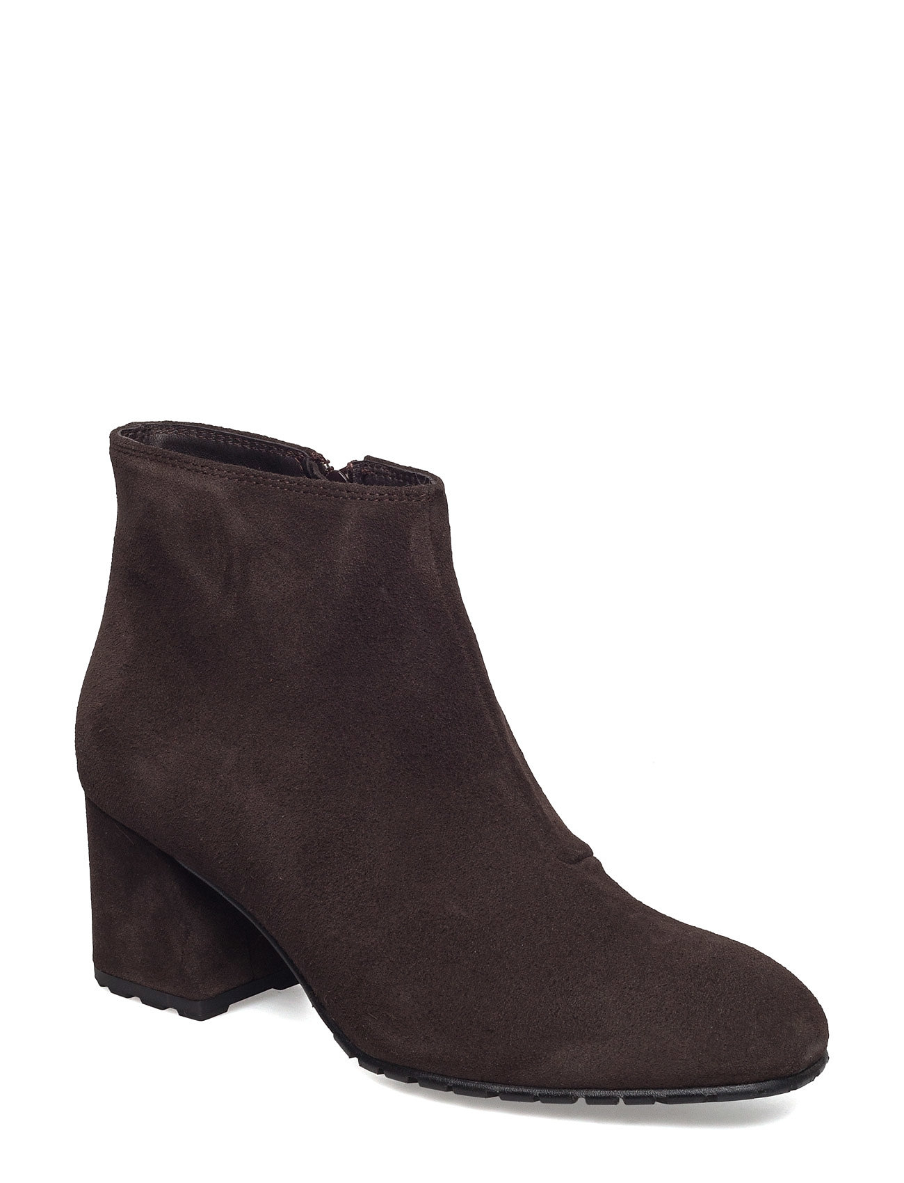 Image of Suede Ankle Boot Shoes Boots Ankle Boots Ankle Boot - Heel Brun Ilse Jacobsen (2728536011)