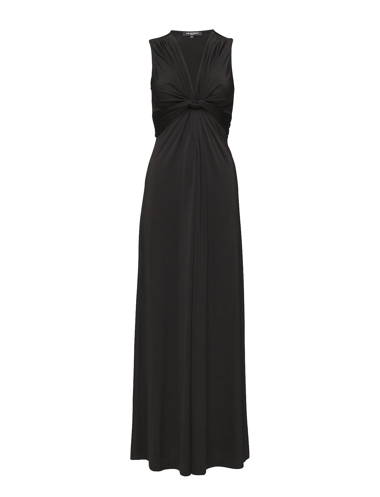 Ilse Jacobsen WOMENS LONG DRESS - 001 Black