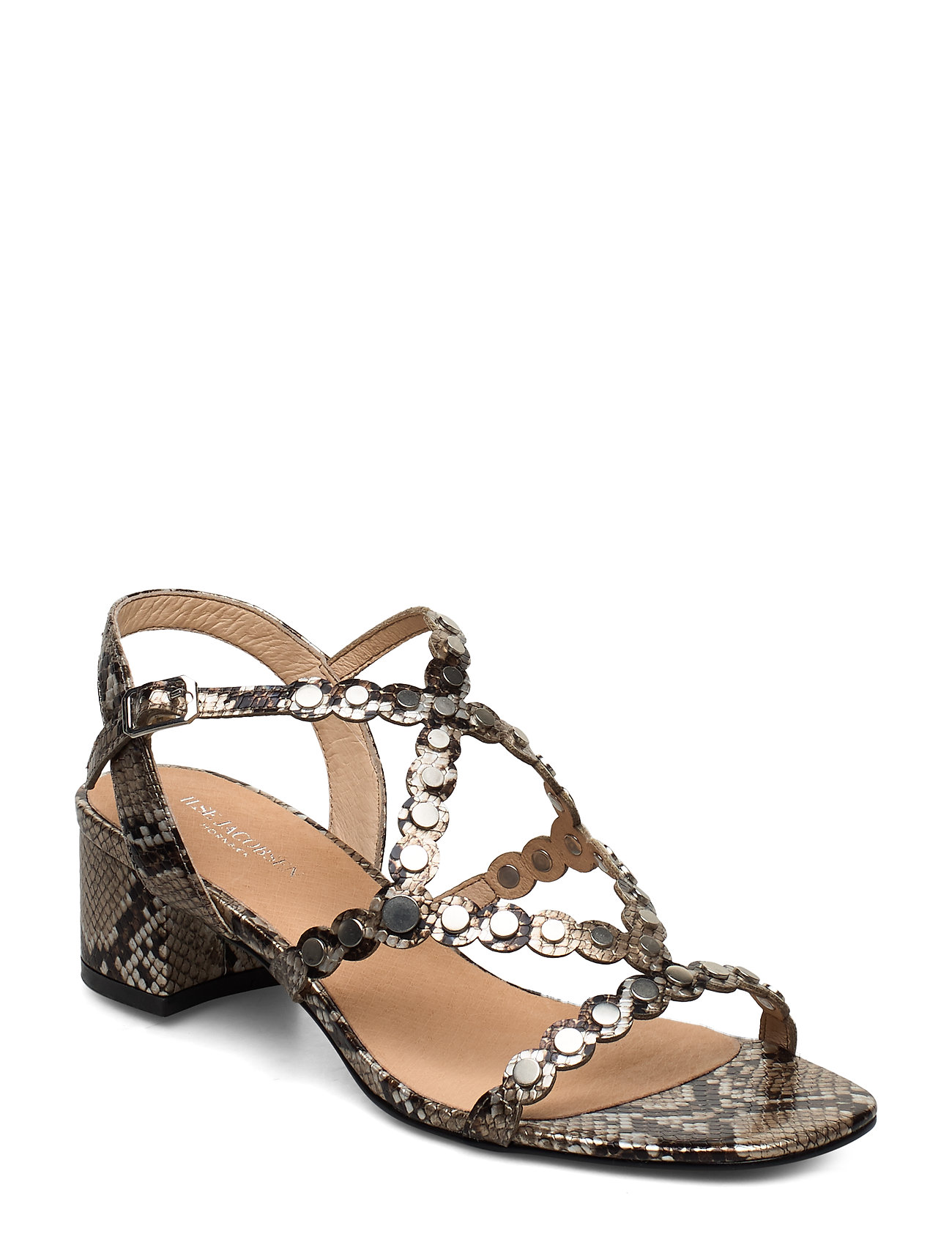 Image of Sandals High Heel Sandal Med Hæl Brun Ilse Jacobsen (3354384935)